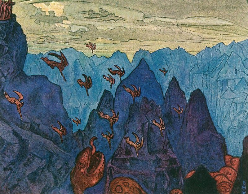 Creek serpent (Sketch). Roerich N.K. (Part 2)