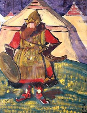 Good visitors (Panel). Roerich N.K. (Part 2)