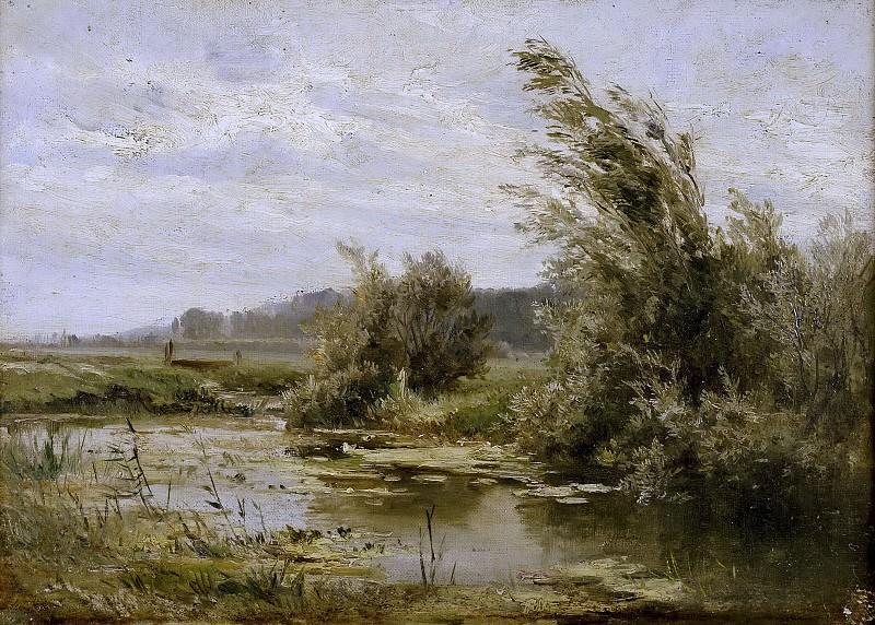 Хаэс, Карлос де -- Пейзаж с прудом. Часть 4 Музей Прадо