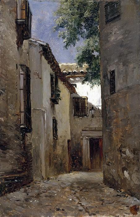 Haes, Carlos de -- Una calle de Toledo. Part 4 Prado Museum