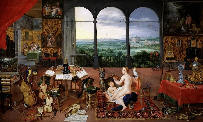 Rubens, Pedro Pablo; Brueghel el Viejo, Jan -- El Oído. Part 4 Prado Museum