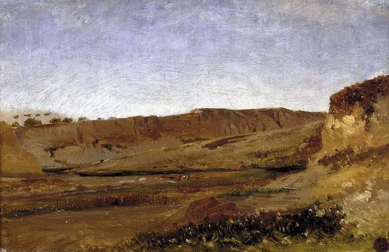 Haes, Carlos de -- Orillas del Vinalopó (Elche). Part 4 Prado Museum