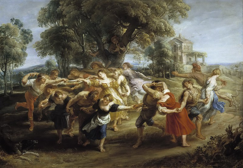 Danza de personajes mitológicos y aldeanos. Peter Paul Rubens