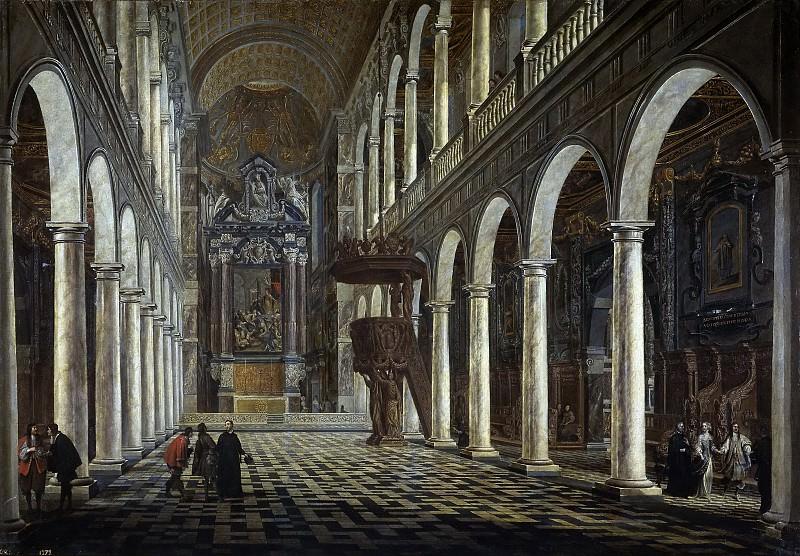 Gheringh, Antoon -- La Iglesia de los Jesuitas, de Amberes. Part 4 Prado Museum