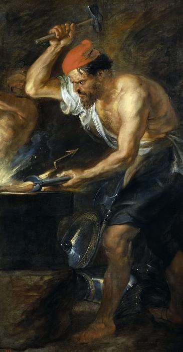 Rubens, Pedro Pablo -- Vulcano forjando los rayos de Júpiter. Part 4 Prado Museum