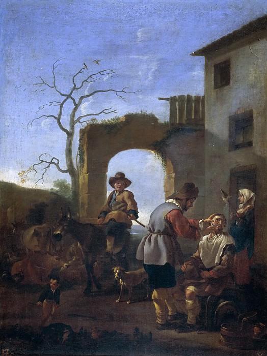 Miel, Jan -- El barbero del lugar. Part 4 Prado Museum