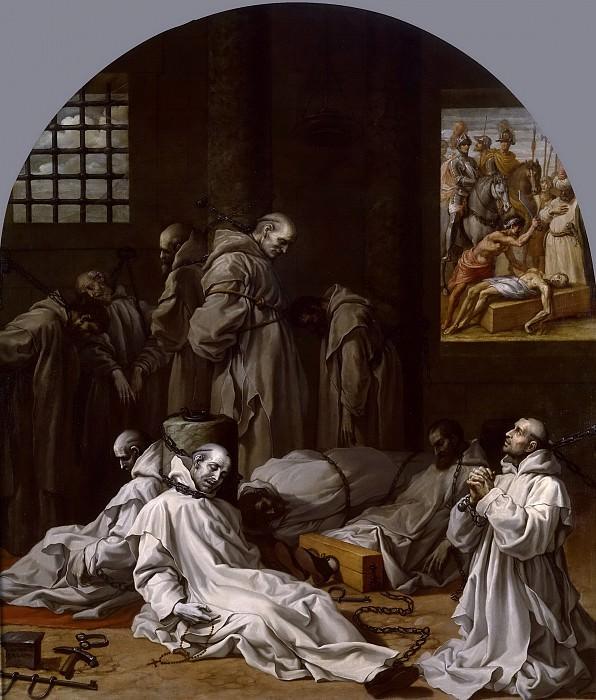 Carducho, Vicente -- Prisión y muerte de los diez miembros de la cartuja de Londres. Part 4 Prado Museum