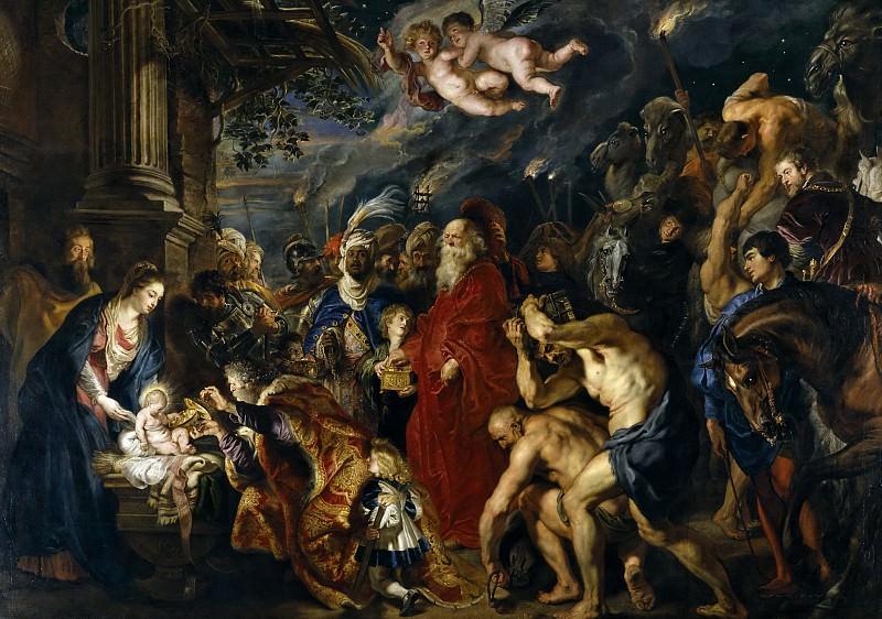Rubens, Pedro Pablo -- La Adoración de los Reyes Magos. Part 4 Prado Museum