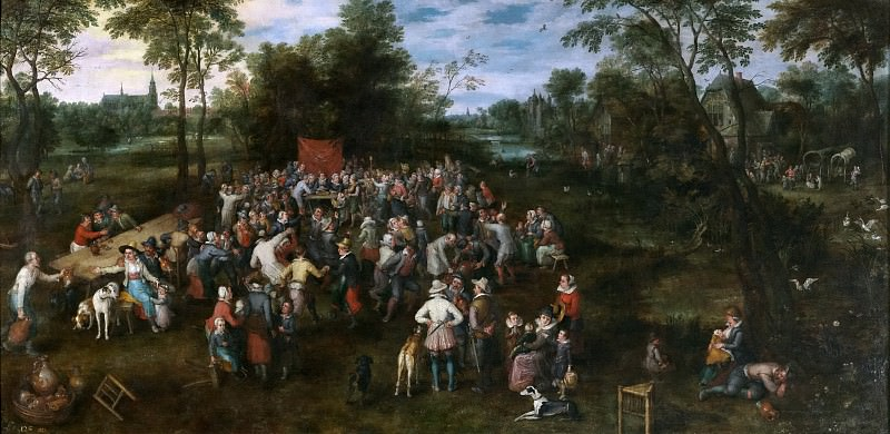 Banquete de bodas. Jan Brueghel The Elder