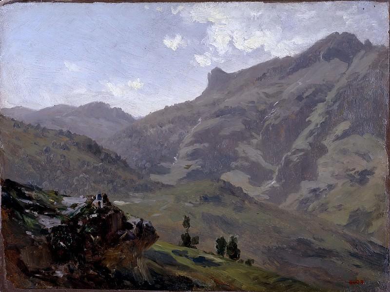 Haes, Carlos de -- Aguas Buenas (Pirineos). Part 4 Prado Museum
