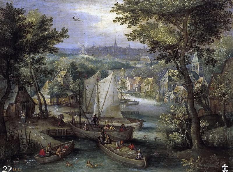 Anónimo -- Paisaje con río. Part 4 Prado Museum