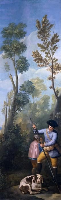 Goya y Lucientes, Francisco de -- Cazador cargando su escopeta. Part 4 Prado Museum