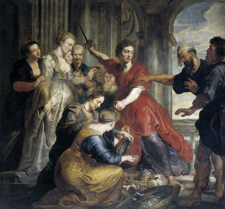 Питер Пауль Рубенс (и мастерская) -- Ахиллес среди дочерей Ликомеда. Часть 4 Музей Прадо