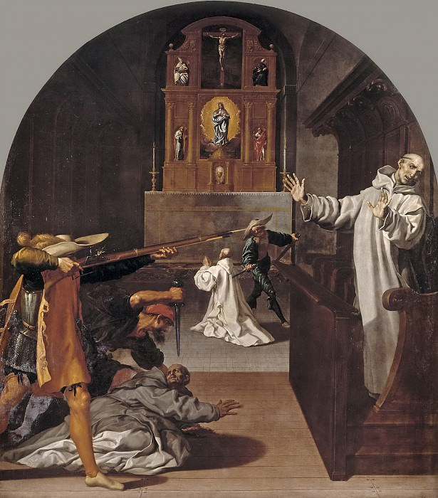 Кардучо, Висенте -- Мученичество картезианцев в Бург-Фонтен. Часть 4 Музей Прадо