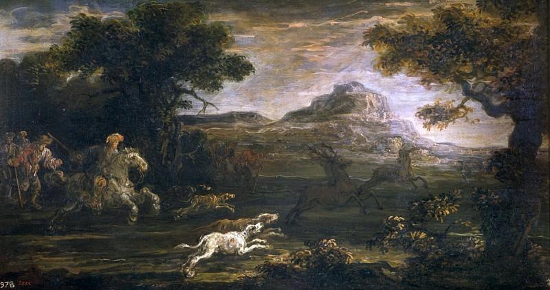 Momper, Jan de -- Cacería de venados. Part 4 Prado Museum