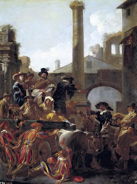Miel, Jan -- El Carnaval en Roma. Part 4 Prado Museum