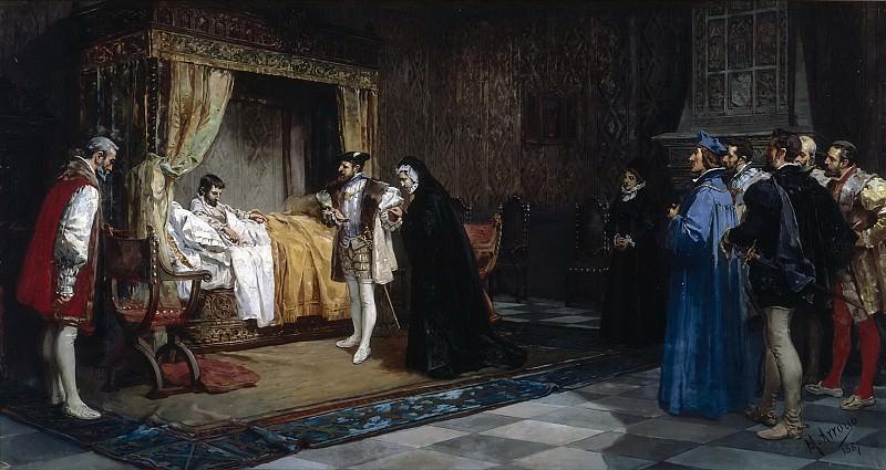Arroyo y Lorenzo, Manuel -- La duquesa de Alençon presentada a su hermano el rey de Francia Francisco I, por el emperador Carlos V. Part 4 Prado Museum