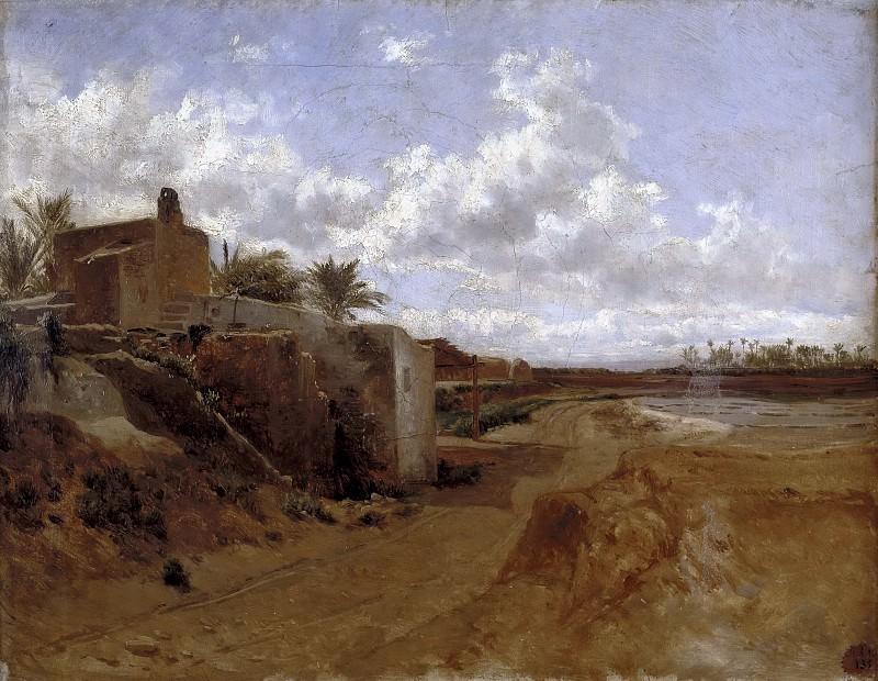 Haes, Carlos de -- Una alquería (Elche). Part 4 Prado Museum