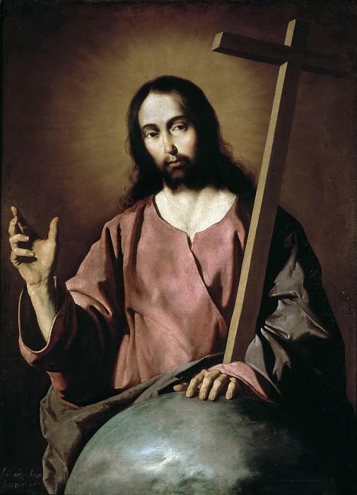 Сурбаран, Франсиско де -- Благословляющий Спаситель. Часть 4 Музей Прадо