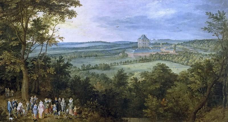 Los Archiduques de caza. Jan Brueghel The Elder