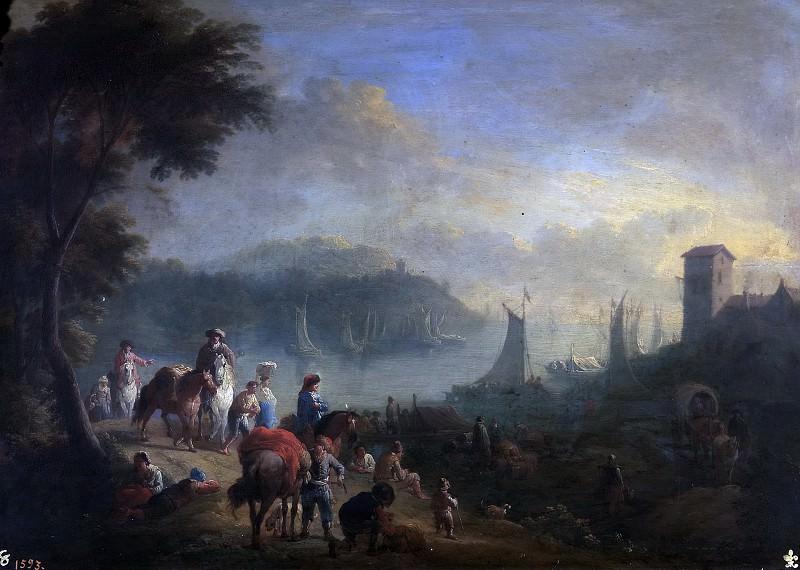Boudewijns, Adriaen Fransz. -- Un puerto. Part 4 Prado Museum
