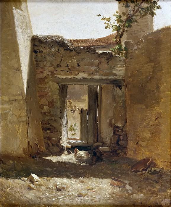 Haes, Carlos de -- Un corral (Aragón). Part 4 Prado Museum