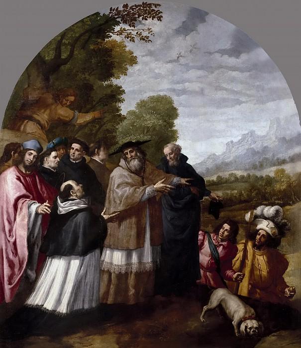Кардучо, Висенте -- Приезд Св Юга с шестью сподвижниками к св Бруно в монастырь Шартрез. Часть 4 Музей Прадо