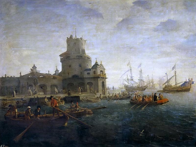 Эйк, Каспар ван -- Морской пейзаж. Часть 4 Музей Прадо