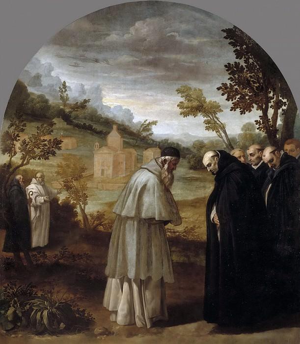 Carducho, Vicente -- San Bruno se despide de San Hugo antes de su viaje a Roma. Part 4 Prado Museum
