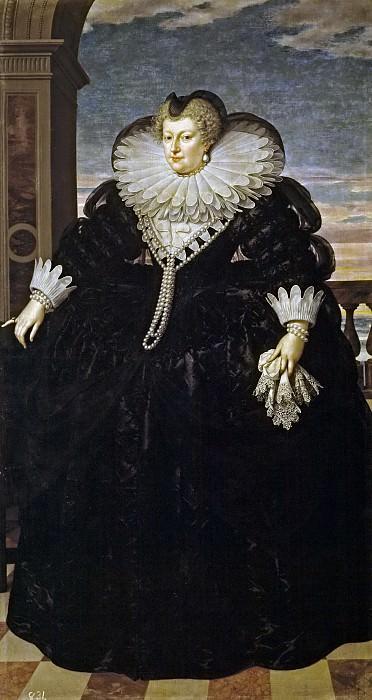 Pourbus el Joven, Frans -- María de Medici, reina de Francia. Part 4 Prado Museum