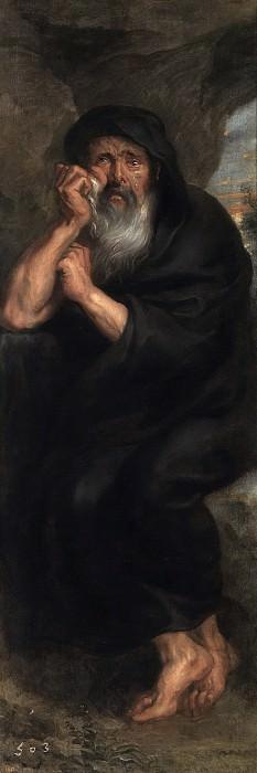 Anónimo (Taller de Rubens, Pedro Pablo) -- Heráclito, el filósofo que llora. Part 4 Prado Museum