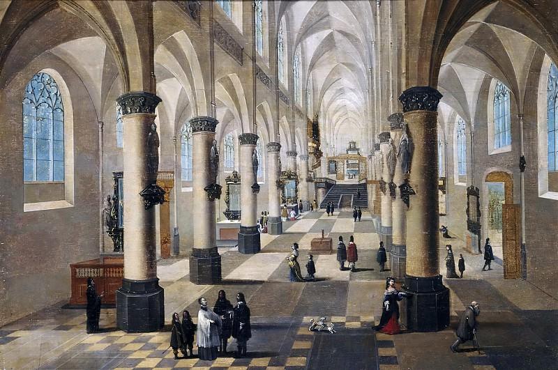 Francken III, Frans; Neefs, Pieter I -- Interior de una iglesia en Flandes. Part 4 Prado Museum