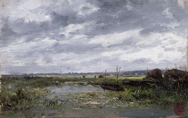 Haes, Carlos de -- Marismas (Holanda). Part 4 Prado Museum