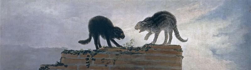 Goya y Lucientes, Francisco de -- Riña de gatos. Part 4 Prado Museum