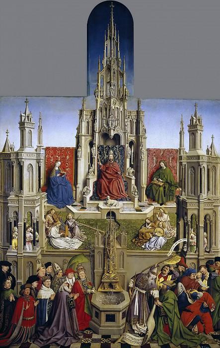 Eyck, Jan van (Escuela de) -- La Fuente de la Gracia y Triunfo de la Iglesia sobre la Sinagoga. Part 4 Prado Museum