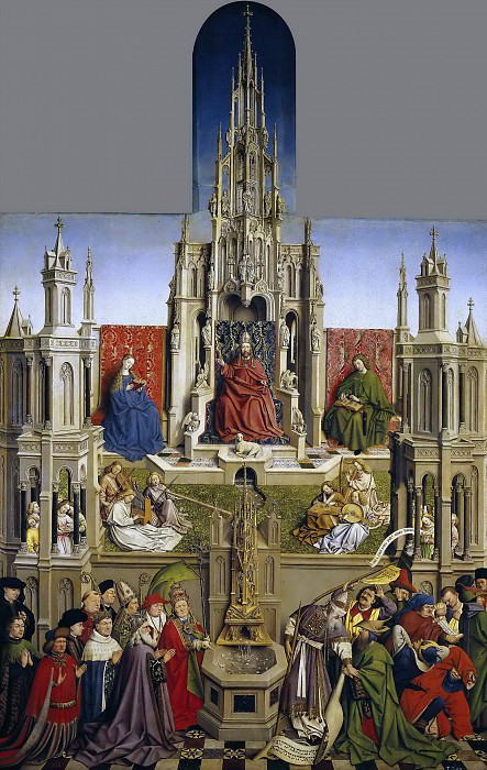 Эйк, Ян ван (школа) -- Фонтан благодати и торжество церкви над синагогой. Часть 4 Музей Прадо