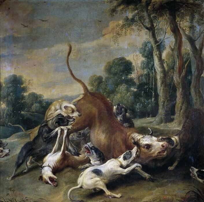 Snyders, Frans -- Toro rendido por perros. Part 4 Prado Museum