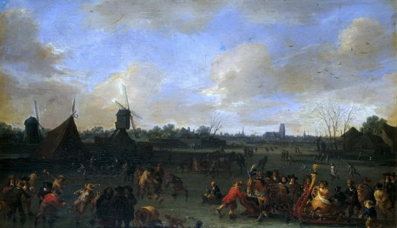 Bout, Pieter -- Carnaval sobre hielo. Part 4 Prado Museum