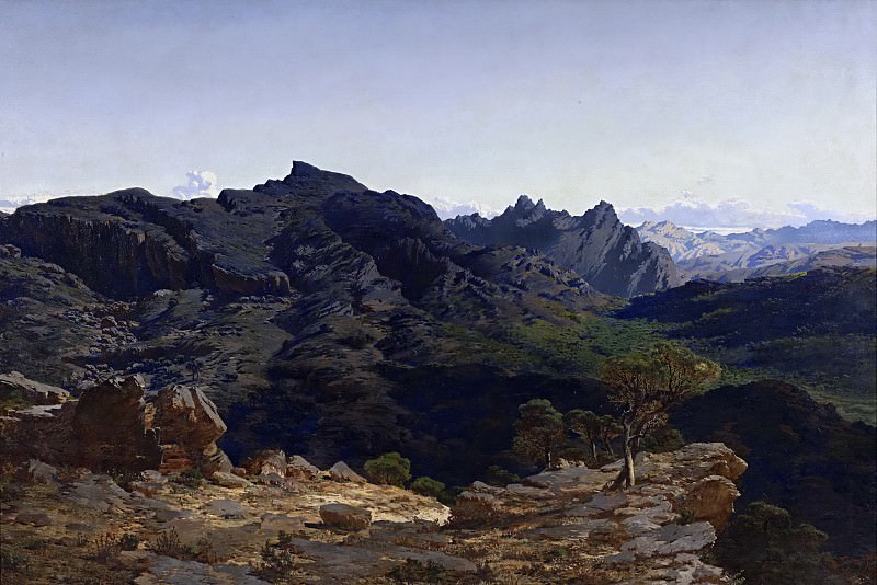 Muñoz Degrain, Antonio -- Paisaje de la sierra de las Agujas, tomado desde la loma del Caball-Vernat. Part 4 Prado Museum