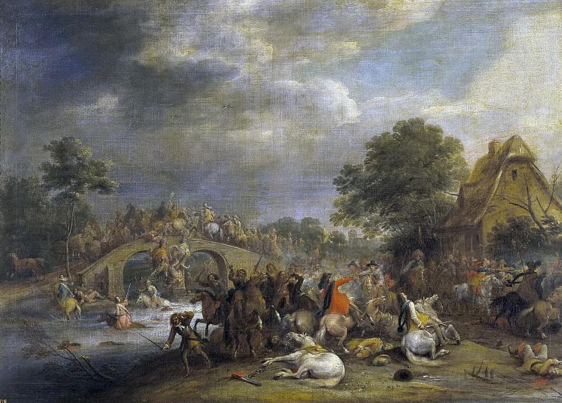 Мелен, Адам Франс ван дер -- Кавалерийская атака. Часть 4 Музей Прадо