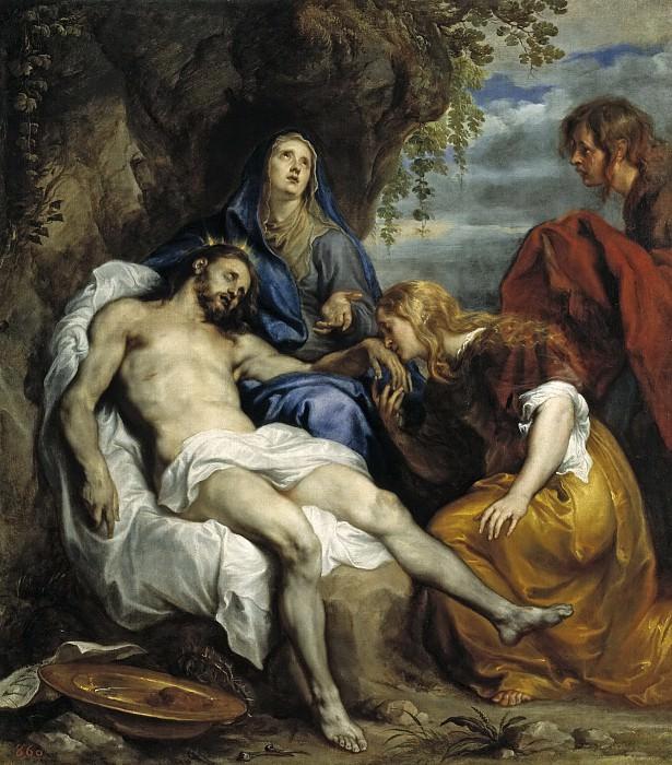 Dyck, Anton van -- La Piedad. Part 4 Prado Museum