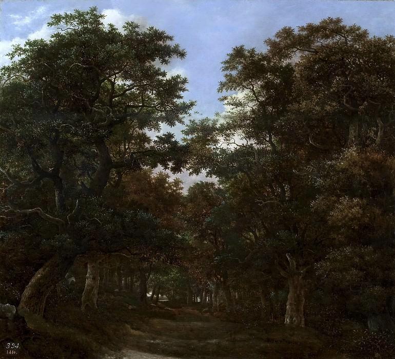 Vroom, Hendrick Cornelisz. -- Bosque con jinetes y perros. Part 4 Prado Museum