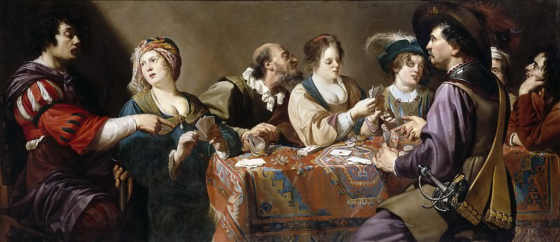 Rombouts, Theodoor -- Jugadores de naipes. Part 4 Prado Museum