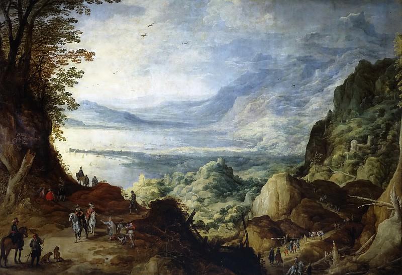 Момпер, Йос де -- Пейзаж с морем и горами. Часть 4 Музей Прадо