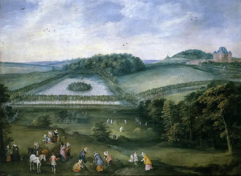 Brueghel el Viejo, Jan; Momper, Joos de II -- Excursión campestre de Isabel Clara Eugenia. Part 4 Prado Museum