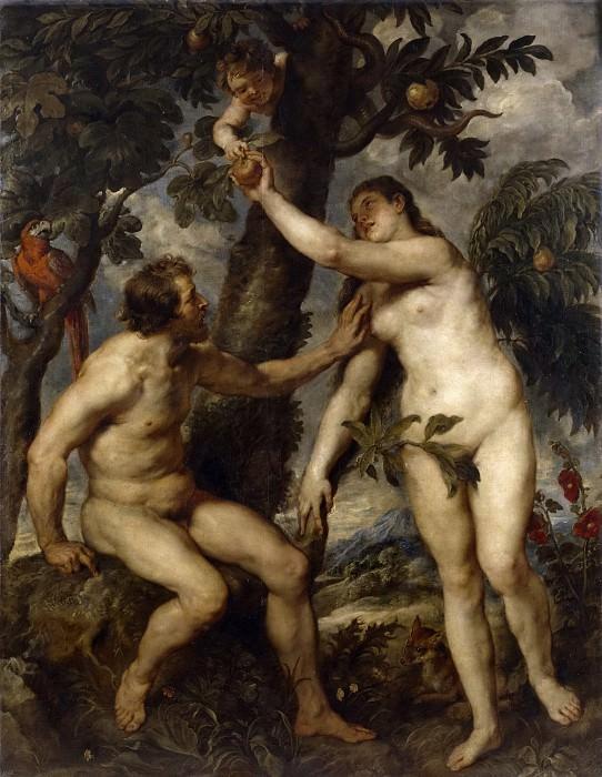 Rubens, Pedro Pablo (Copia Tiziano, Vecellio di Gregorio) -- Adán y Eva. Part 4 Prado Museum