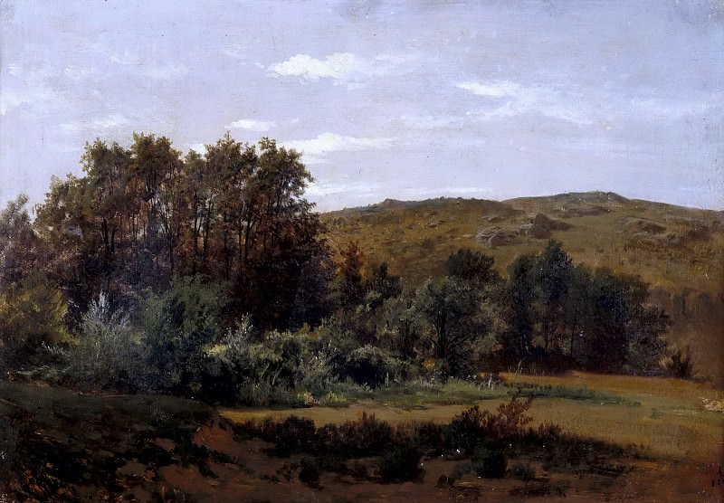 Haes, Carlos de -- Arboleda (Monasterio de Piedra). Part 4 Prado Museum