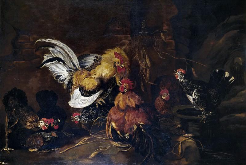 Fyt, Jan -- Riña de gallos. Part 4 Prado Museum