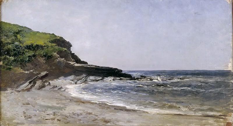 Haes, Carlos de -- Playa de Guethary. Part 4 Prado Museum