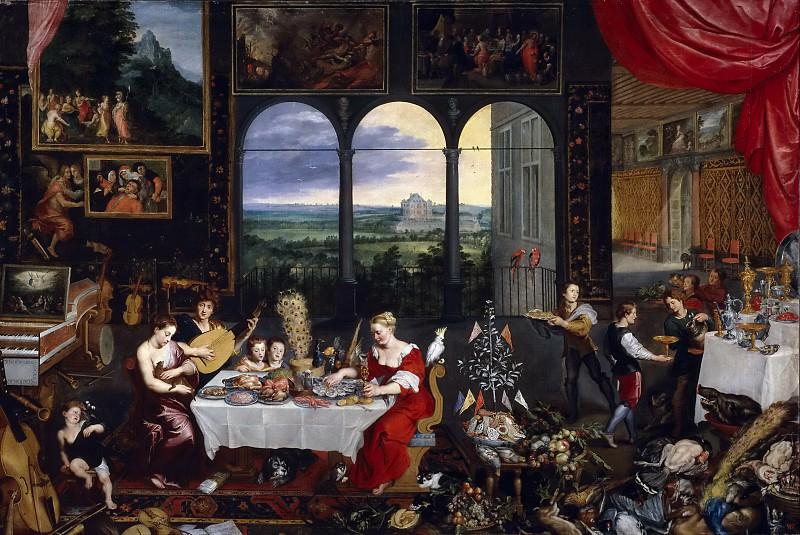 Brueghel el Viejo, Jan -- El Gusto, el Oído y el Tacto. Part 4 Prado Museum